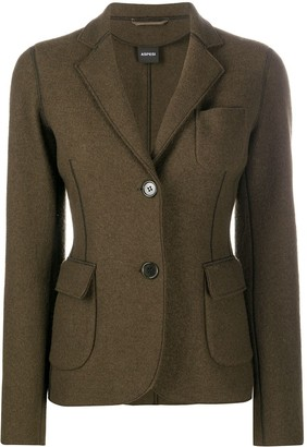 Aspesi Exposed-Seam Wool Blazer