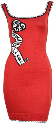 Alaia Red Cotton - elasthane Dress for Women Vintage