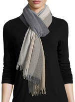 Eileen Fisher Reclaimed Cashmere Blocks Wrap