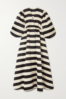 Emilia Wickstead Emile Striped Taffeta Gown - Black