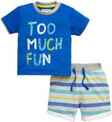 Ladybird Baby Boys Too Much Fun Tee & Short Set