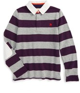 Toddler Boy's Mini Boden Rugby Polo
