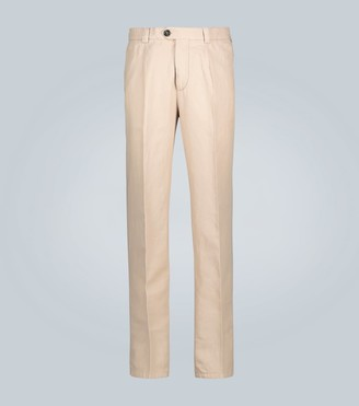 Brunello Cucinelli Linen and cotton-blend pants