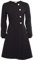Dressarte Paris A-Line Black Wrap Dress