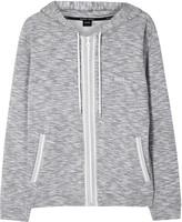 Boss Grey Mélange Hooded Cotton Sweatshirt