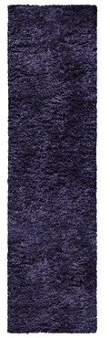 "Latitude Run Handmade Tufted Dark Navy/Blue Rug Rug Size: Runner 2'2"" x 11'"