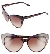 Ted Baker Women's 57Mm Cat Eye Sunglasses - Purple Horn