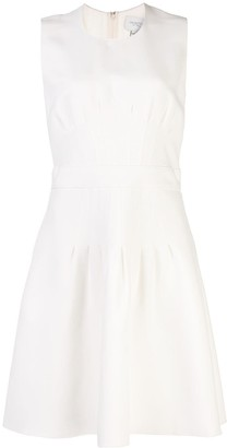Giambattista Valli Pleated Detail Silk Dress