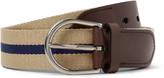 Dunhill - 3.5cm Leather-trimmed Webbing Belt