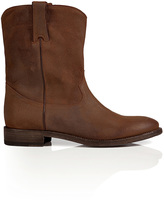 Ralph Lauren Distressed Oiled Suede Boots in Snuff