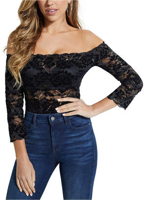 GUESS Kristy Off-The-Shoulder Lace Top