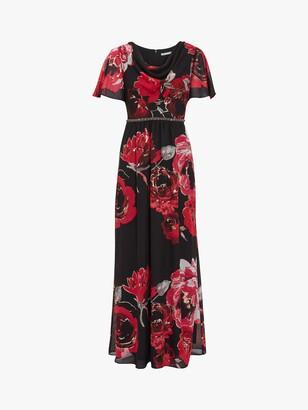 Gina Bacconi Mallie Floral Maxi Dress, Black