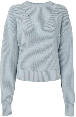 Proenza Schouler White Label Back Slit Merino Knit Jumper