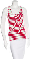 Kate Spade Bow-Accented Striped Top