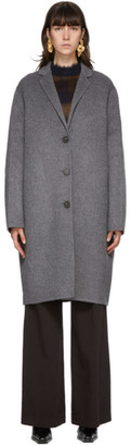 Acne Studios Grey Wool Single-Breasted Coat