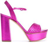 Casadei open toe platform sandals - women - Leather/Kid Leather - 36