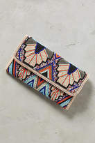 Anthropologie Blue Wings Clutch
