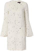 Derek Lam Bell Sleeve Drip Dot Pattern Dress