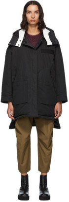 Yves Salomon Army Reversible Black Down Doudoune Jacket
