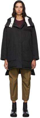 Yves Salomon   Army Yves Salomon - Army Reversible Black Down Doudoune Jacket