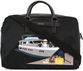Dolce & Gabbana Mediterraneo designers patch holdall - men - Leather/Nylon - One Size