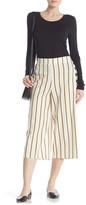 ECI Cropped Striped Linen Blend Pants