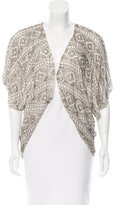 Alice + Olivia Silk Embellished Cardigan