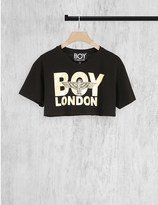 Boy London Cropped logo-print cotton t-shirt