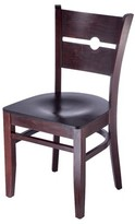 Northview Coin Solid Wood Ladder Back Side Chair Winston Porter Color: Dark Mahogany