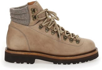 Brunello Cucinelli Lace Up Hiking Boots