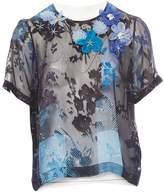 Preen by Thornton Bregazzi Blue Silk Top for Women