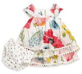 Catimini Baby's Two-Piece Floral-Printed Dress & Bloomers Set