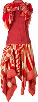 Comme des Garcons asymmetric ruffle top and skirt ensemble