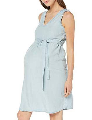 Mama Licious Mamalicious Women's Mladora S/l Woven Abk Dress Denim Light Blue Washing, Medium