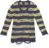 American Retro Blue Cotton Knitwear for Women