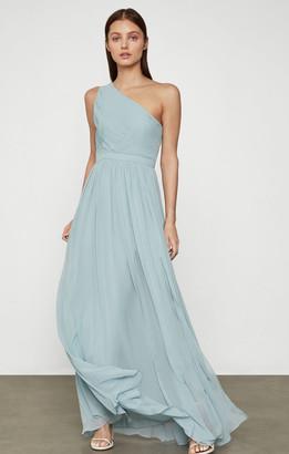 BCBGMAXAZRIA One Shoulder Cutout Gown