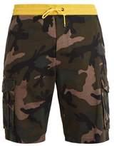 Valentino Camouflage-print cotton shorts
