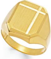 Macy's Men's Polished Ring in 14k Gold