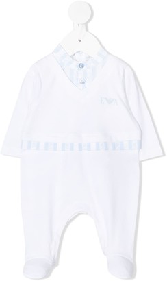 Emporio Armani Kids Layered-Effect Logo Pajamas