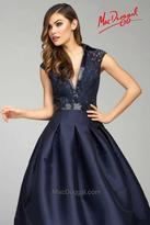 Mac Duggal Couture - 80634 Cap Gown In Navy