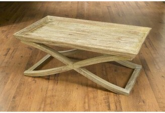 Darby Home Co Vermont Coffee Table with Tray Top Color: Weathered Sand