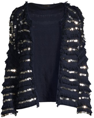 Kobi Halperin Reed Fringe & Embellished Sweater