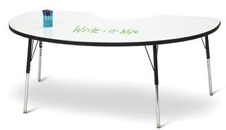 "3.1 Phillip Lim Berries Dry Erase Whiteboard 72"" x 48"" Kidney Activity Table Jonti-Craft Height: 24"