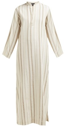 SU PARIS Tek Striped Cotton Kaftan - Beige