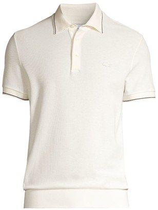 Lacoste Regular-Fit Short-Sleeve Cotton & Silk Polo Shirt