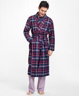 Brooks Brothers Three-Color Plaid Flannel Robe