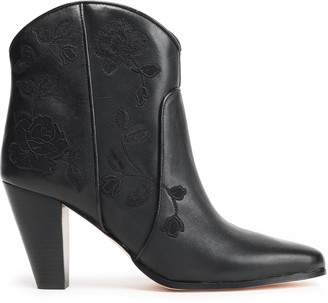Kate Spade Dalton Embroidered Leather Ankle Boots