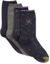 Gold Toe Women's 4-Pk. Floral Net Socks