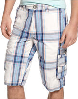INC International Concepts Shorts, Freedom Plaid Cargo Shorts