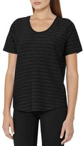 Reiss Alvie Metallic Stripe Tee